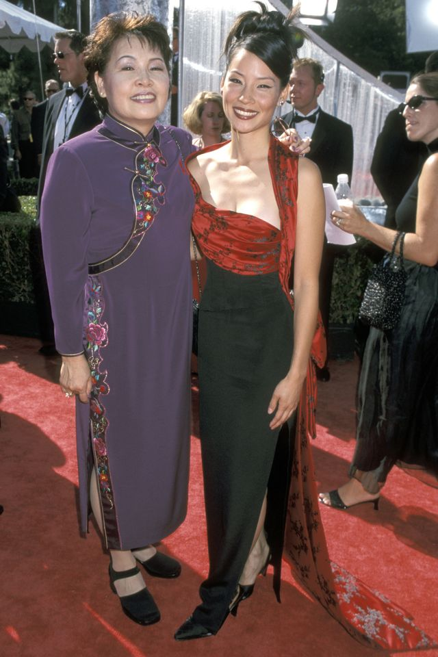 Lucy Liu and her mom, 1999