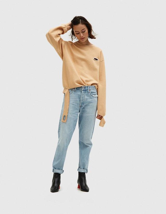 Sweatshirt Grommeted in NUDE207