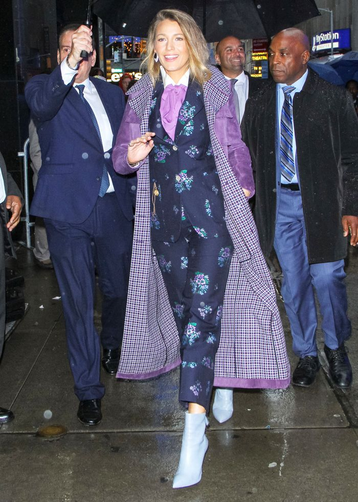 Blake Lively Wearing Gucci: A Simple Favor Press Tour