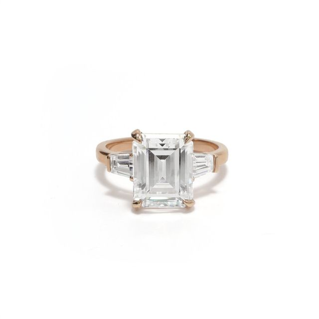 Ashley Zhang Grace Emerald Cut Engagement Ring