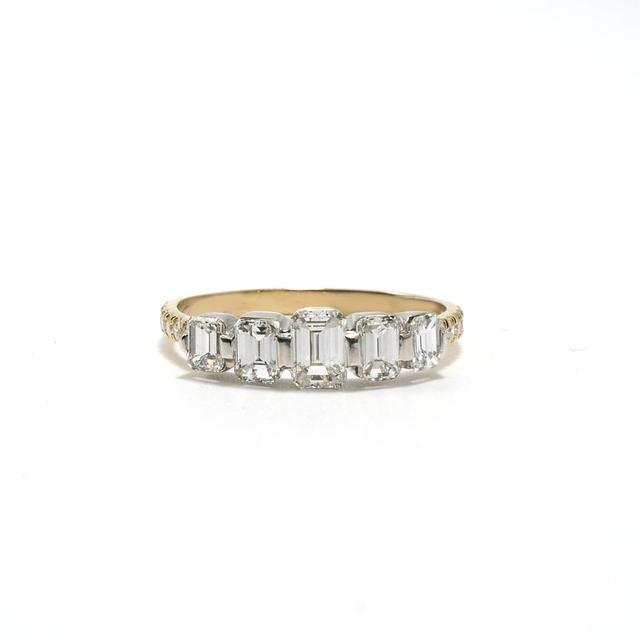 Ashley Zhang Quinn Emerald Cut Engagement Ring