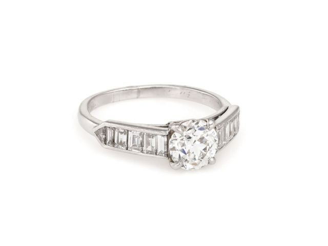 Cartier Platinum 1.10ctw Diamond Vintage Engagement Ring