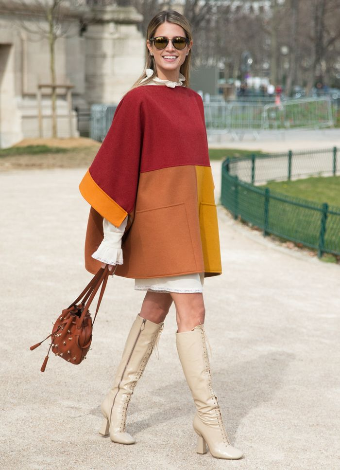 How to Wear a Poncho: Try Short Hems