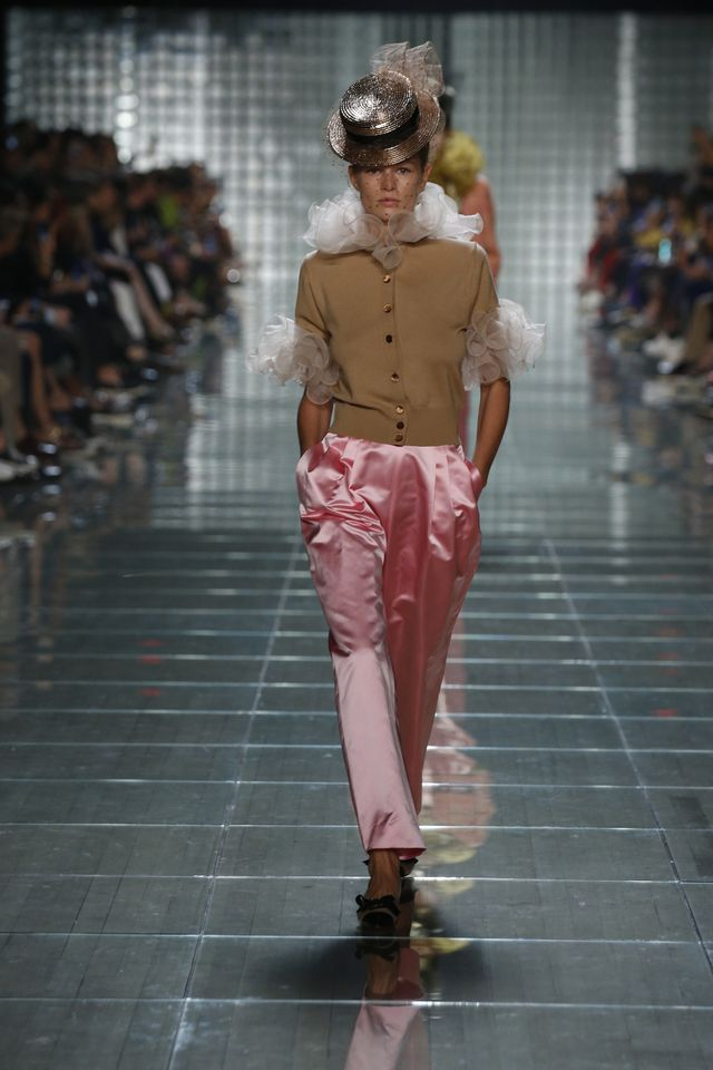 Marc Jacobs cardigans and pink pants