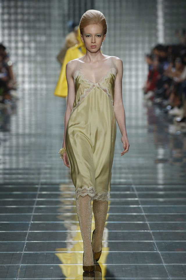 Marc Jacobs slip dresses and glitter tights