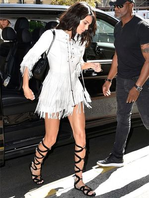 Kendall Jenner Just Brought Back Knee-High Gladiators in Paris