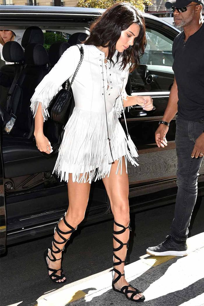 Kendall Jenner in Gladiator Sandals