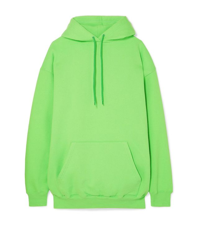 Oversized Cotton-blend Jersey Hoodie