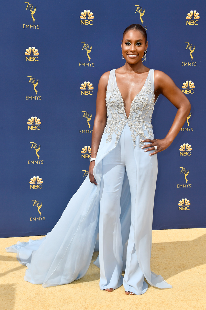 Issa Rae at the 2018 Emmy Awards