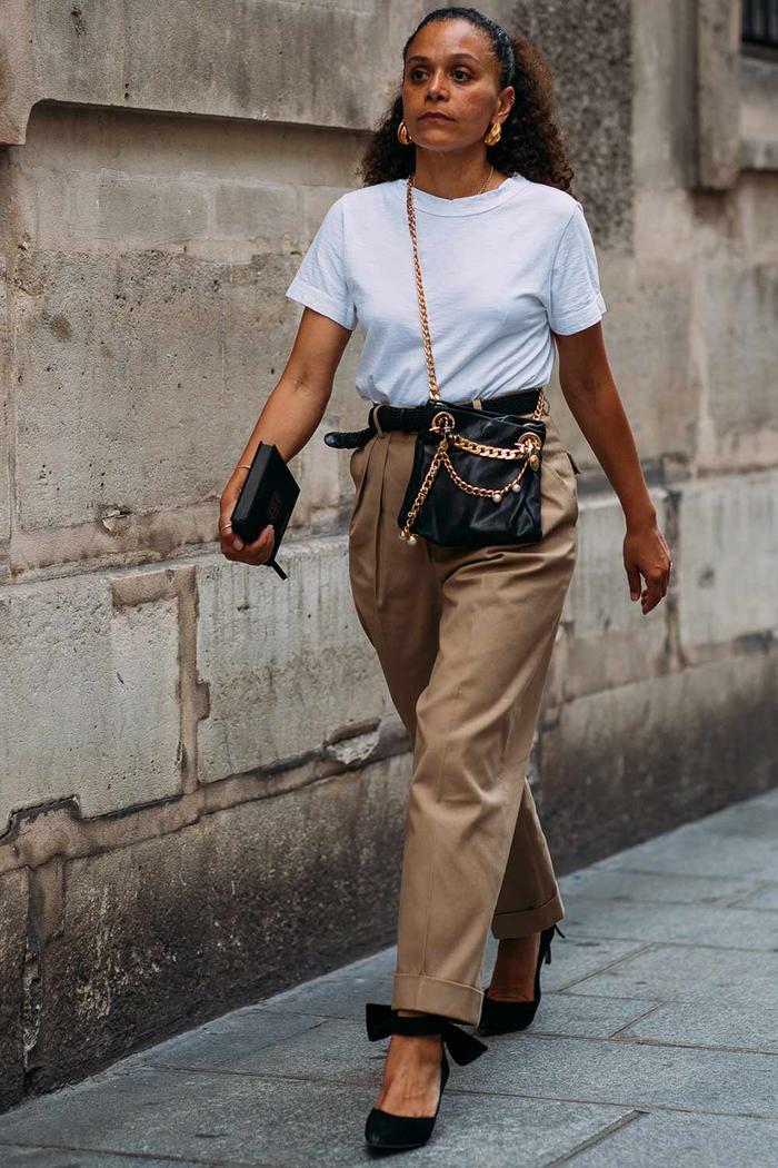 Khaki Pants Street Style