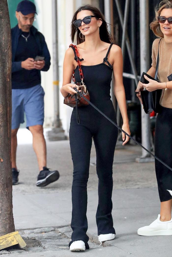 Emily Ratajkowski wearing Zara