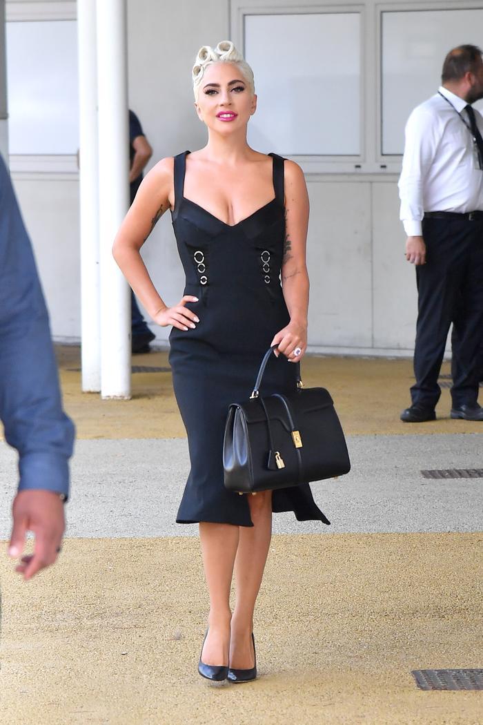 Angelina Jolie And Lady Gaga Wear Hedi Slimane S Celine Bag Who What Wear