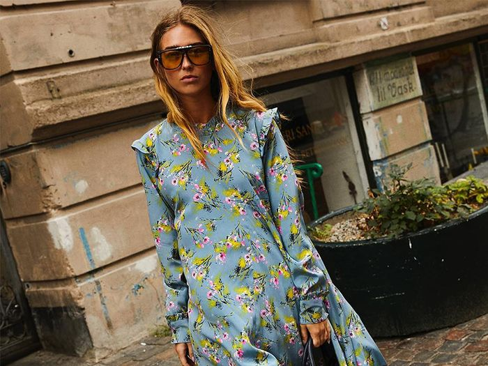 The best Instagram fashion trends: Emili Sindlev wears floral dress and cowboy boots