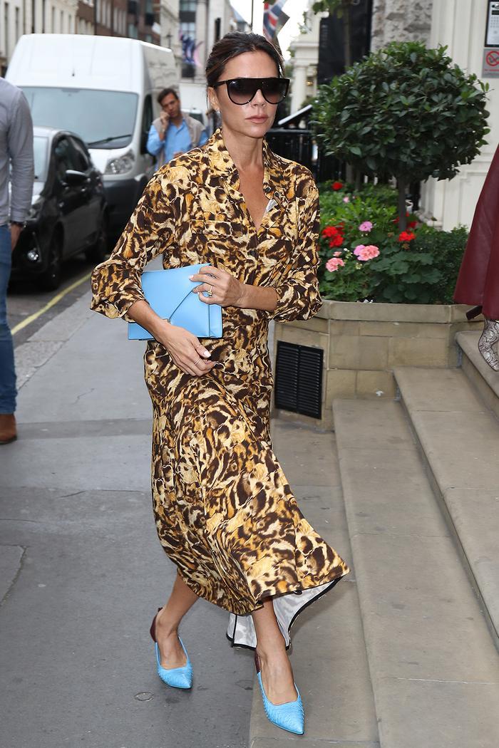 Victoria Beckham leopard print dress