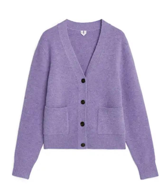 Arket Purple Cardigan