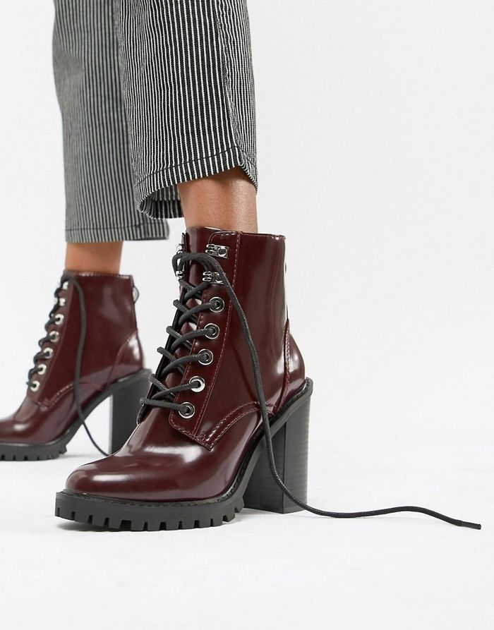 Elm Chunky Lace Up Boots