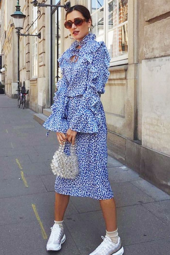 Never Fully Dressed Best Dresses: Ilirida Krasniqi wearing blue leopard print dress