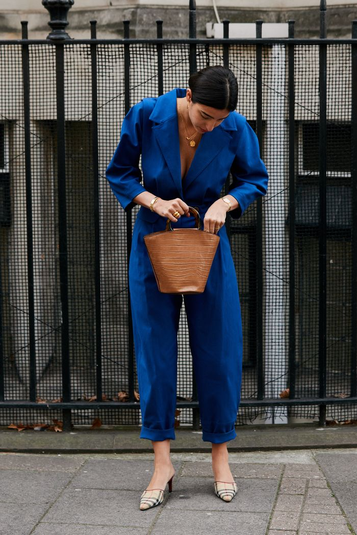 london autumn capsule wardrobe: Bettina Looney in a boiler-suit by Sea