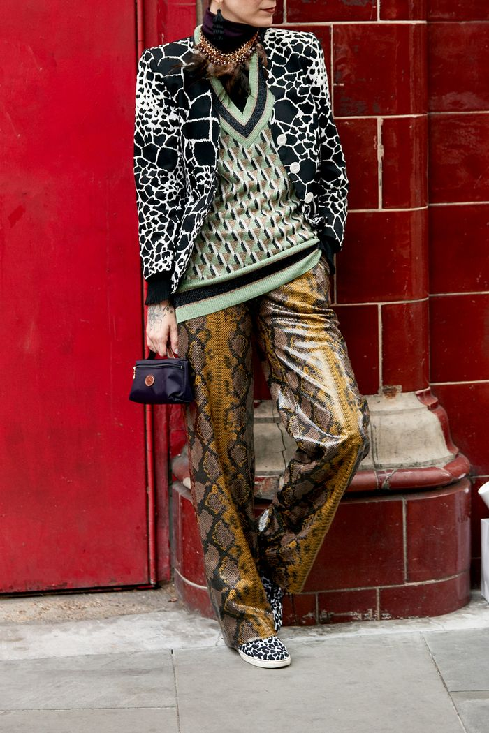 Street style outfits 2018: animal print