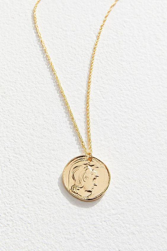 Athena Coin Pendant Necklace