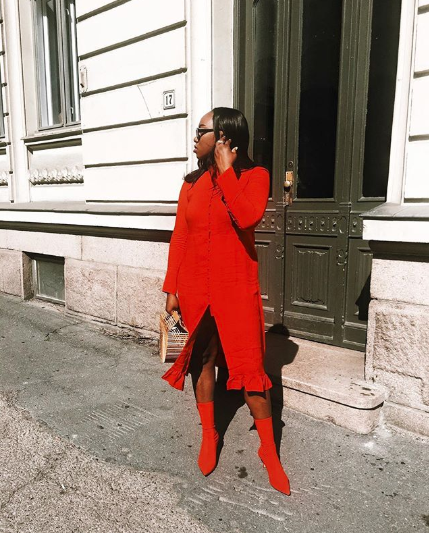 Cute Red-Shoe Outfits for Fall