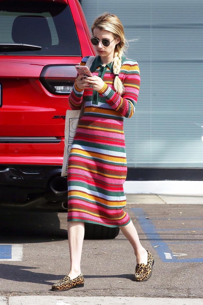 Emma Roberts fall outfit idea