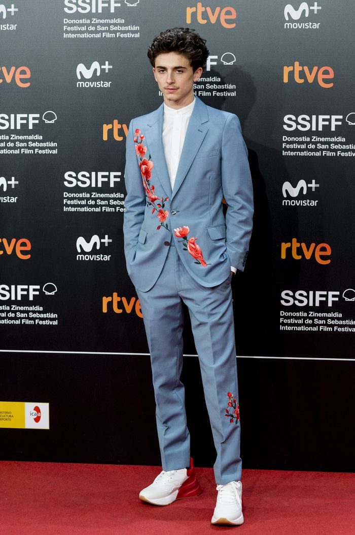Timothee Chalamet Wearing Sneakers
