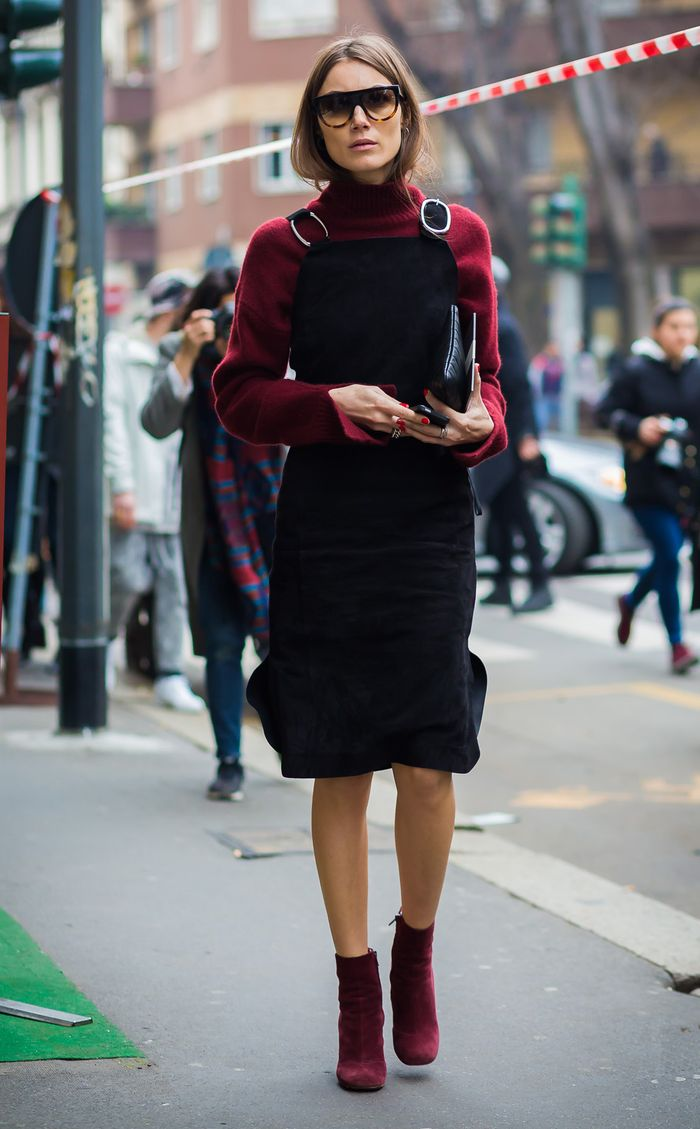 Chic Overall Dress Outfits for Fall