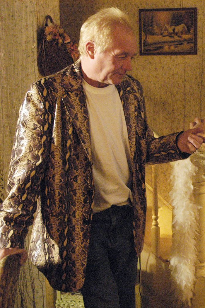 Unlikely TV style icons: Les Battersby snakeskin jacket