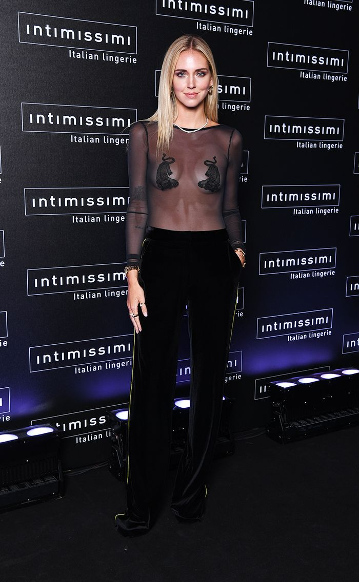 Chiara Ferragni at the Intimissimi fashion show