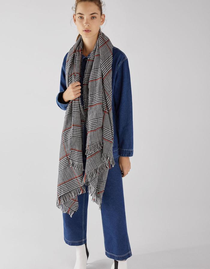best black plaid scarves