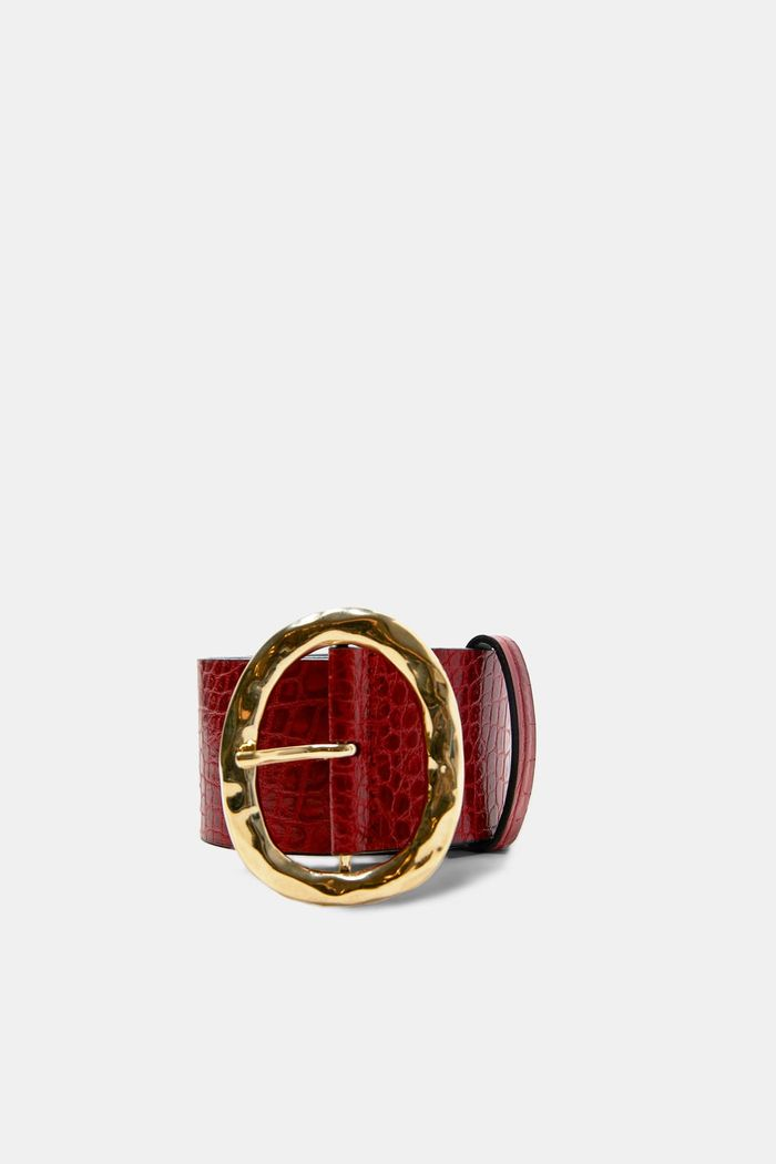 best affordable red leather belts