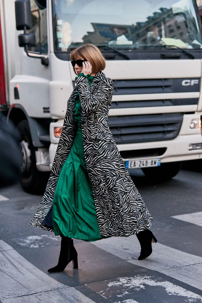 Anna Wintour outfits with booties