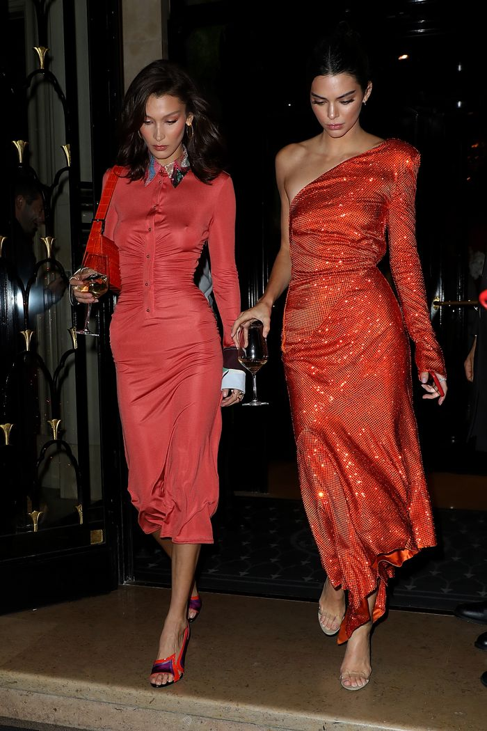 Kendall Jenner and Bella Hadid Match in Paris