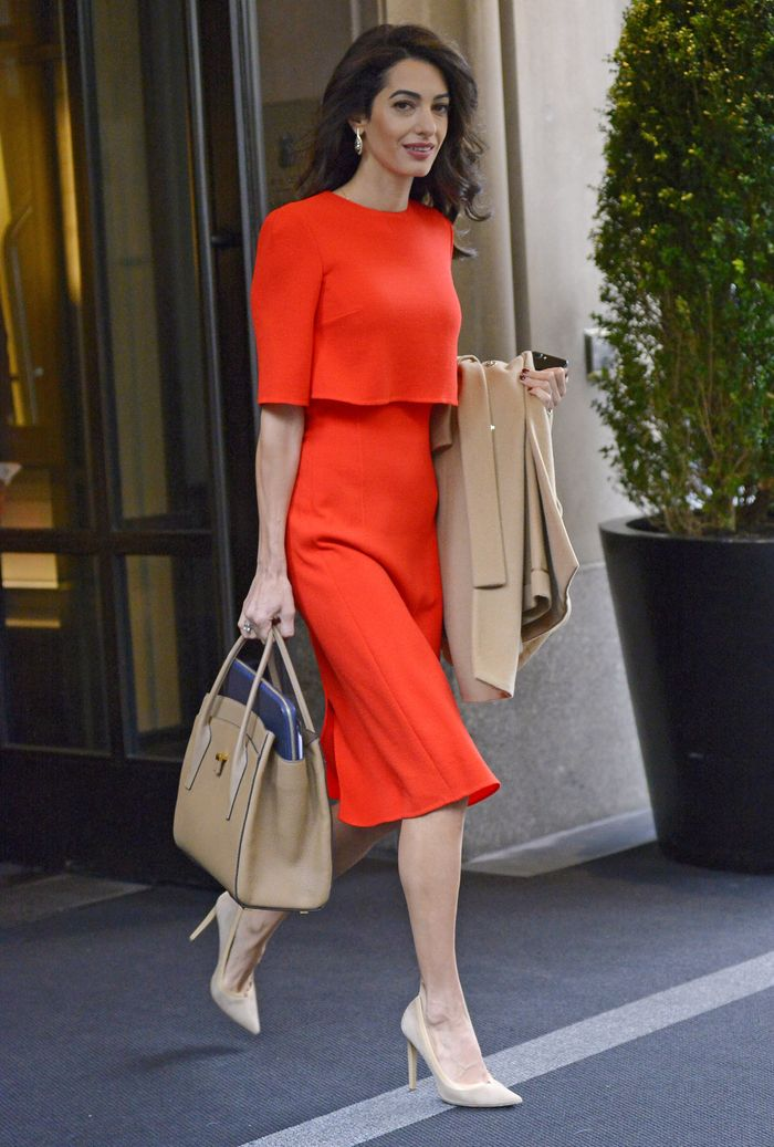 Amal Clooney Red Dress