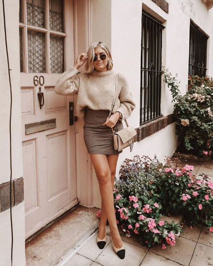 The Best Sweater And Skirt Outfits For Fall Who What Wear