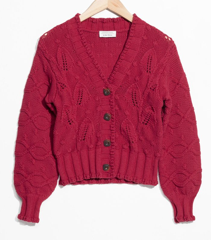 & Other Stories Chunky Knit Cardigan