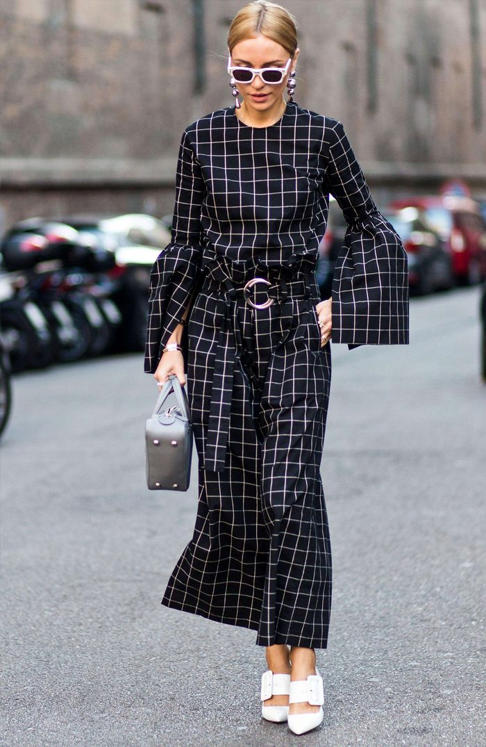 Best checked dresses: Black and white check dress