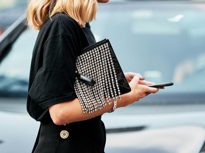 Fashion Week Street Style Christopher Kane Bag