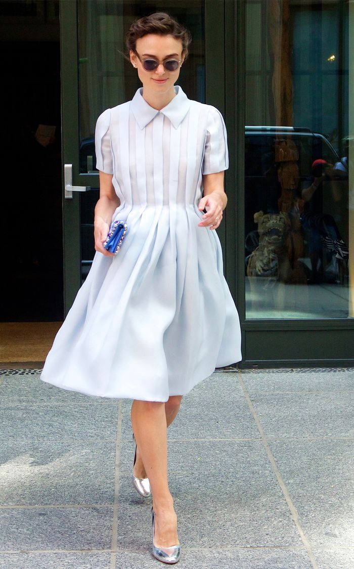 Keira Knightley style: Blue Prada dress