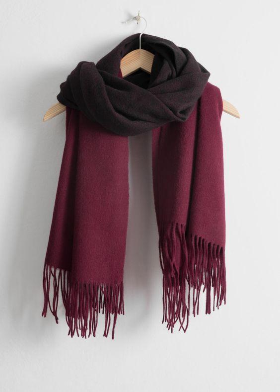 best two tone wool blanket scarves