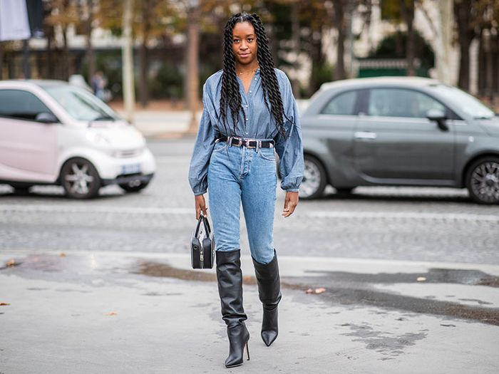 Jeans and Boots Street Style Chrissy Rutherford