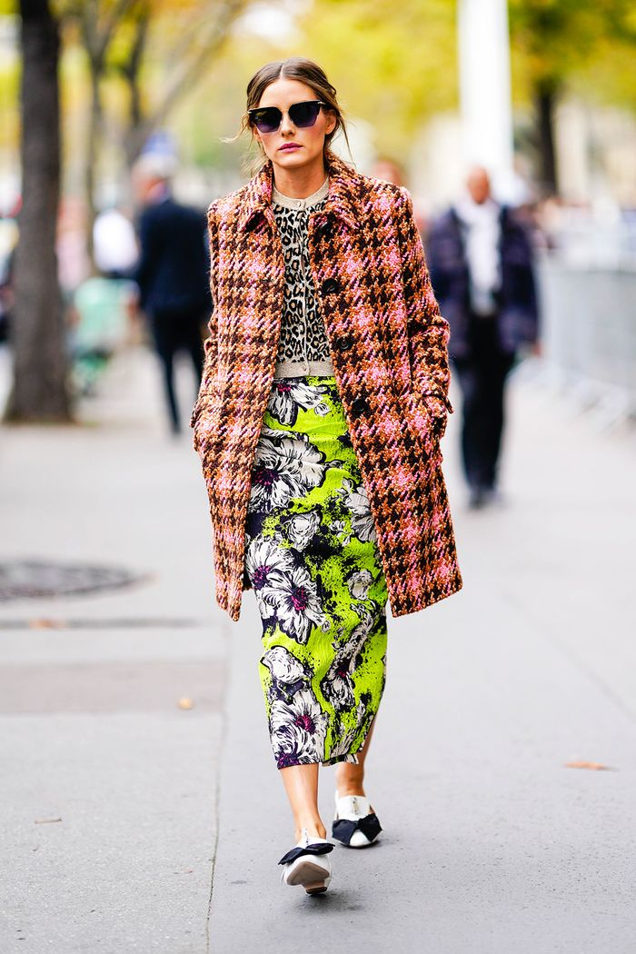Olivia Palermo clashing prints outfit