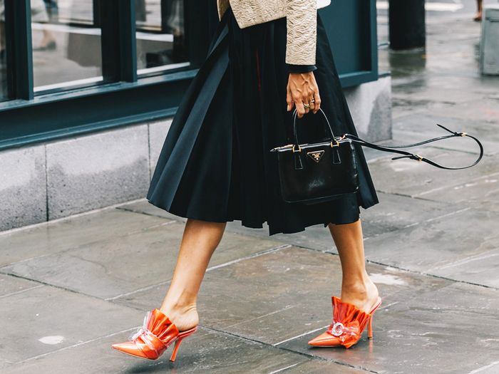 NYFW street style: spring shoe trends