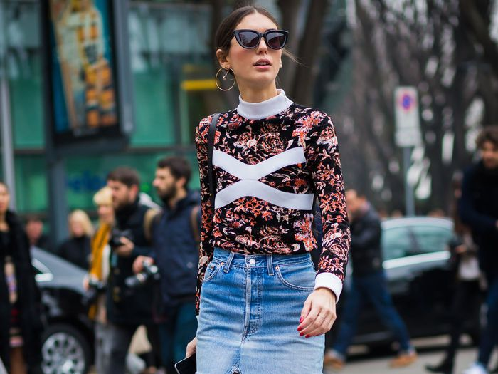 Easy Winter Jean Skirt Outfits to Wear All Season Long