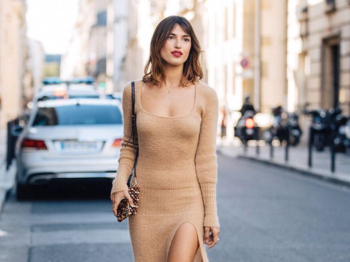 Classic style fall shopping: Jeanne Damas in Jacquemus dress