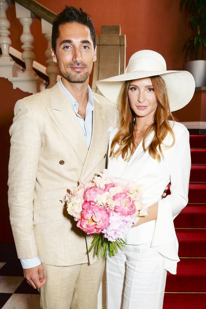 New wedding dress designers: Millie Mackintosh wearing Les Heroines suit