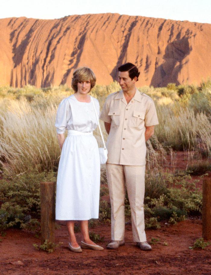 Princess Diana at Ayers Rock in Australia