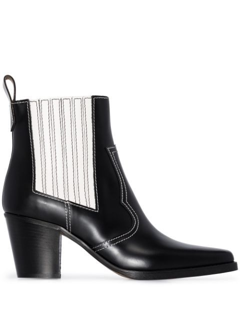 Ganni Western 60mm Ankle Boots