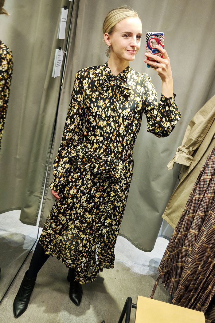 Best winter high-street dresses: Joy Montgomery wearing & Other Stories floral dress